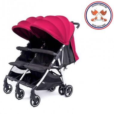 Nouvelle Poussette Double Compacte Kuki Twin Silver Baby Monsters Baby Monsters - 3