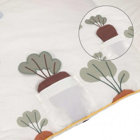 Tapis d'éveil Tiny Farmer Lässig : avec de multiples textures, formes et couleurs
