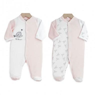 lot 2 pyjamas b b s pr matur s naissance 1 mois rose. Black Bedroom Furniture Sets. Home Design Ideas