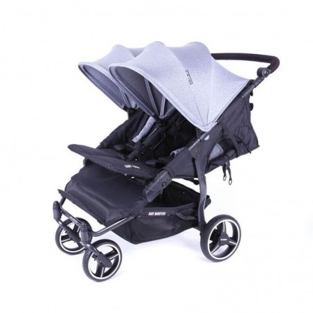 Easy Twin 3S Light Chassis Noir Poussette Double Réversible + Habillage Pluie Baby Monsters Baby Monsters - 16