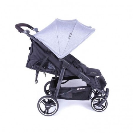 Easy Twin 3S Light Chassis Noir Poussette Double Réversible + Habillage Pluie Baby Monsters Baby Monsters - 13