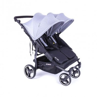 Easy Twin 3S Light Chassis Noir Poussette Double Réversible + Habillage Pluie Baby Monsters Baby Monsters - 12