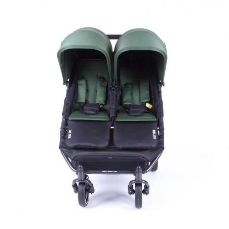 Easy Twin 3S Light Chassis Noir Poussette Double Réversible + Habillage Pluie Baby Monsters Baby Monsters - 70