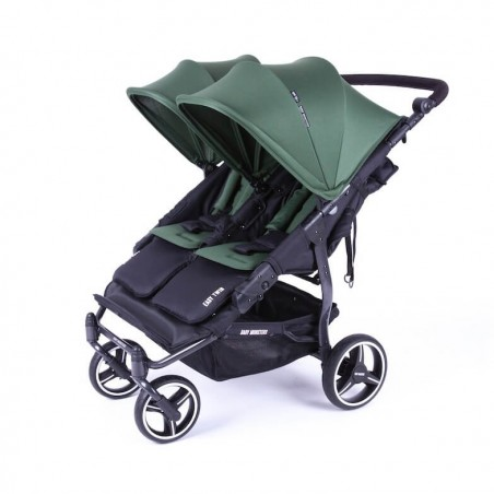 Easy Twin 3S Light Chassis Noir Poussette Double Réversible + Habillage Pluie Baby Monsters Baby Monsters - 71