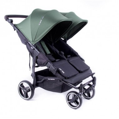 Easy Twin 3S Light Chassis Noir Poussette Double Réversible + Habillage Pluie Baby Monsters Baby Monsters - 69