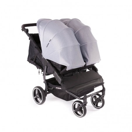 Easy Twin 3S Light Chassis Noir Poussette Double Réversible + Habillage Pluie Baby Monsters Baby Monsters - 102