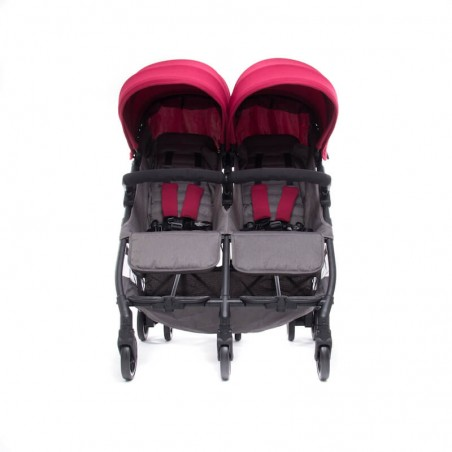 Nouvelle Poussette Double Compacte Kuki Twin Black Baby Monsters Baby Monsters - 21