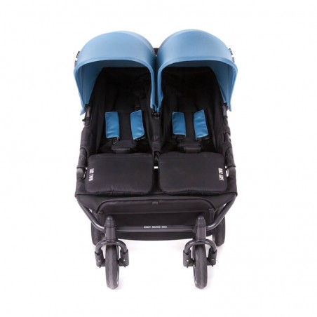 Easy Twin 3S Light Chassis Noir Poussette Double Réversible + Habillage Pluie Baby Monsters Baby Monsters - 109