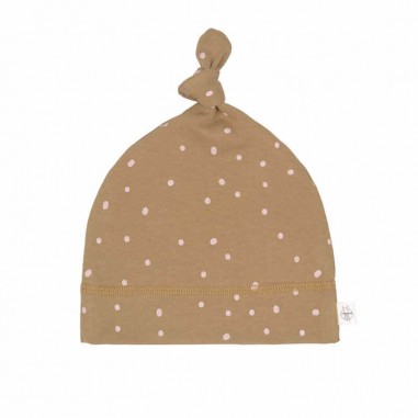 Bonnet de Naissance Pointillés Curry Lässig