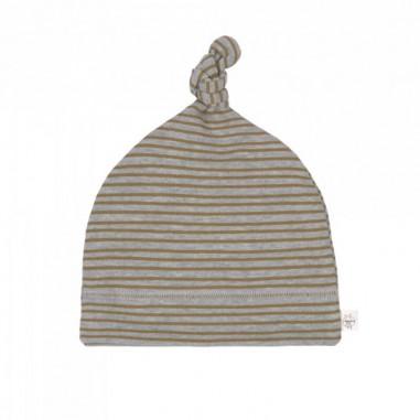 Bonnet de Naissance Rayé Gris Chiné Lässig