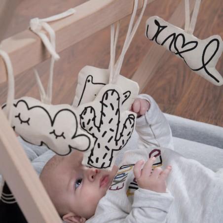 Arche d'Éveil Jumeaux Tipi Play Gym avec Jouets Childhome