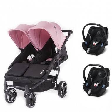 Pack Poussette Double Easy Twin 3S Light Châssis Black Baby Monsters + Coques Aton 5 Cybex Baby Monsters - 36