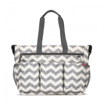 Sac à Langer Duo Double Signature chevron