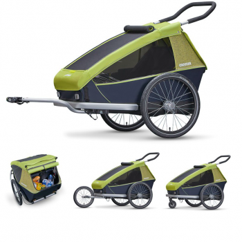 Remorque enfant biplace Kid For 2 (2018) Croozer