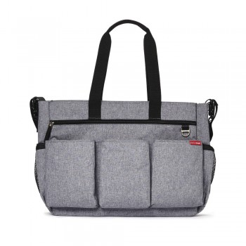 Sac à Langer Duo Double Signature Gris