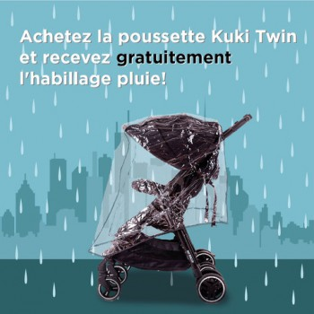 Kuki Twin Poussette Canne Baby Monsters
